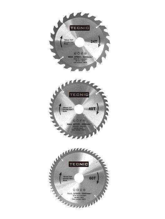 Rundsavsklinger 3 stk. Ø184 mm