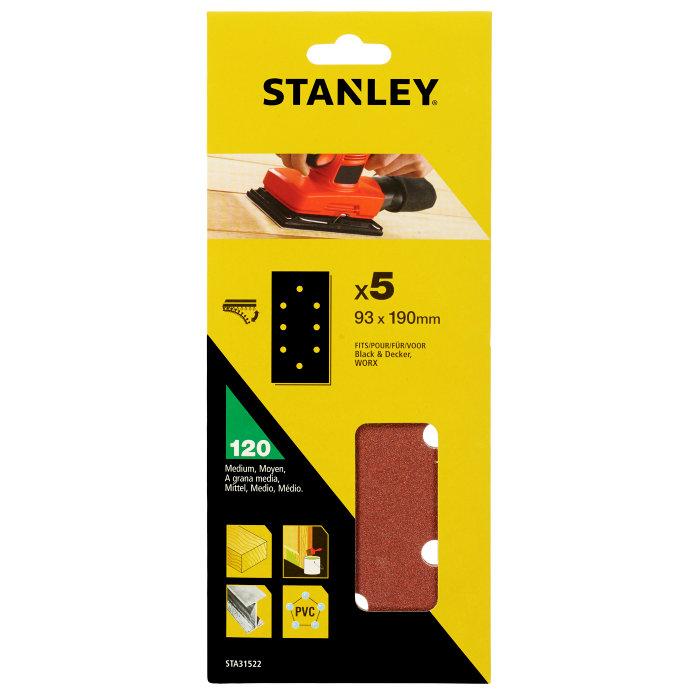 Slippapper med hål K120, Stanley