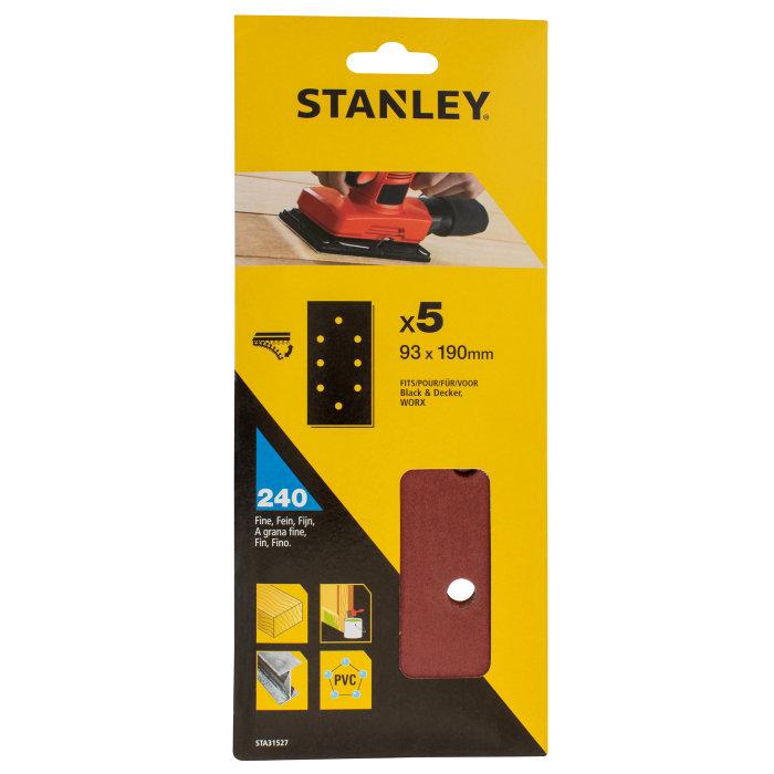 Slippapper med hål K240, Stanley