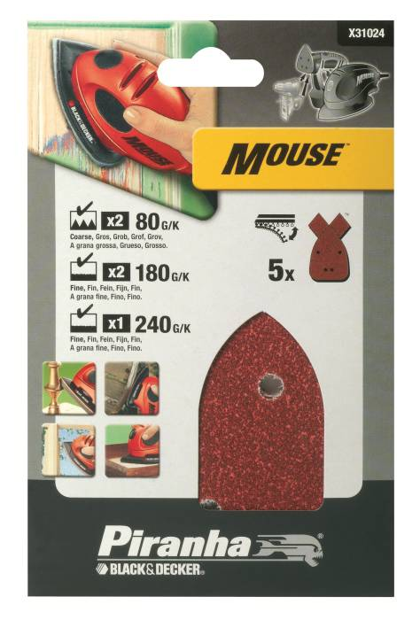 Slippapper mouse Assorterade