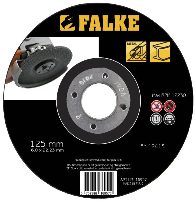 Falke Slibeskive Ø: 125 mm til metal