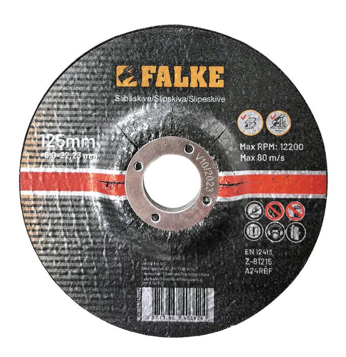 Falke slipeskive 125 mm til metall