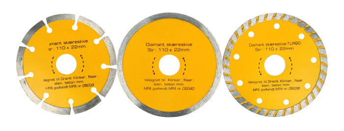 Diamantskivset 110 mm
