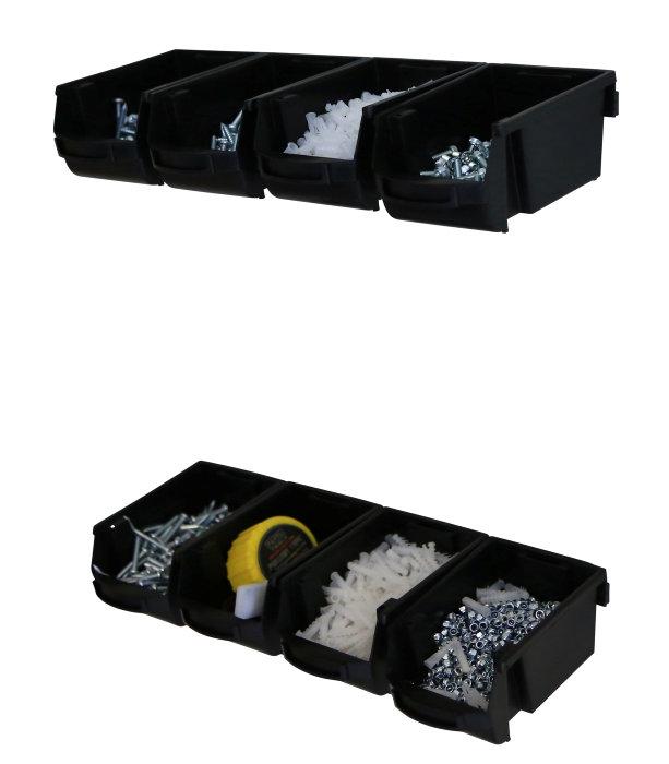 Stabelkassesæt med 8 kasser