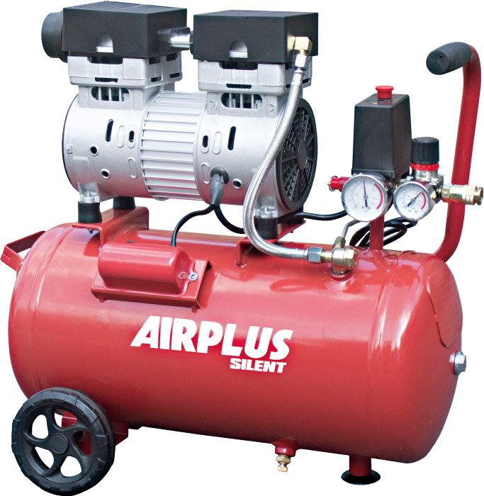 Kompressor støjsvag 1,0 hk og 24 liter tank