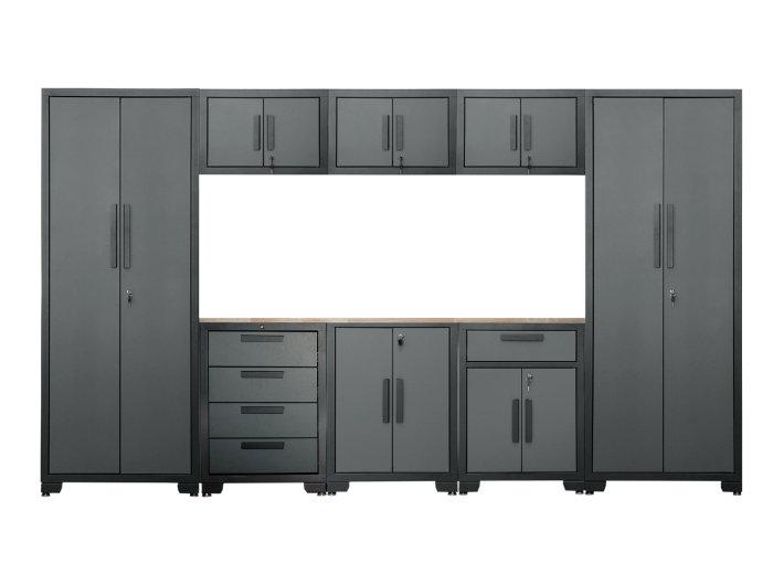 Garageopbevaringsmøbel H192,5 x B330 x D47,2 cm