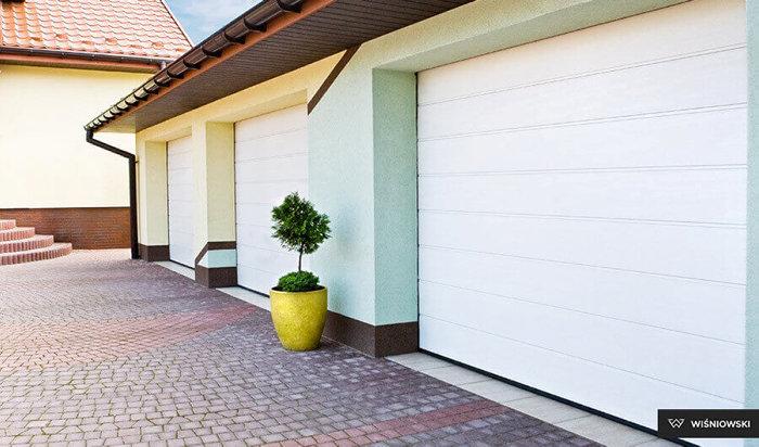 Garageport 240 x 200 cm med portautomatik High Rip W