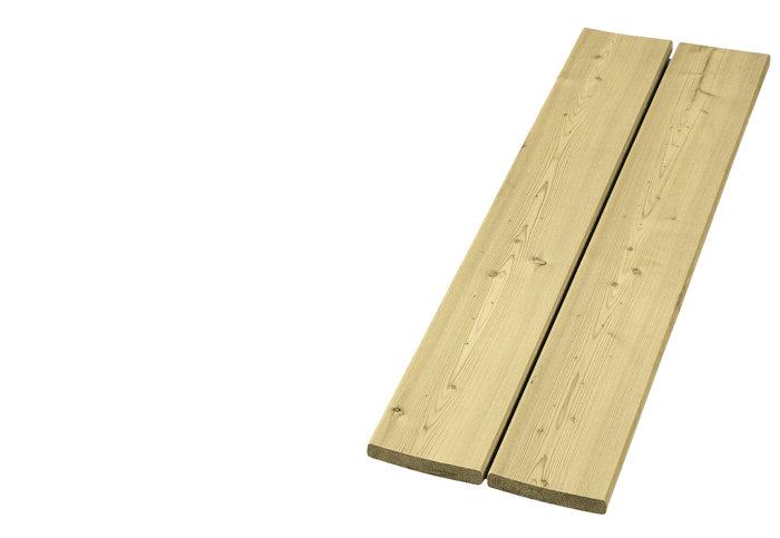 Imp. høvlet gran 19 x 100 mm x 3,0 m.