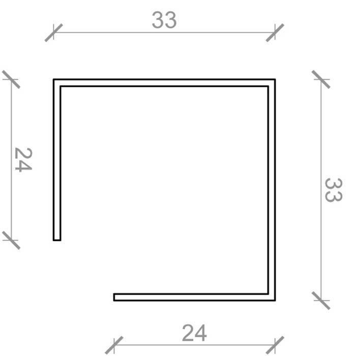 Samlemuffe 24 x 24 x 2500 mm