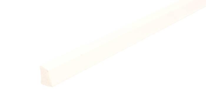 Sandliste plast hvid - 10 x 16 mm x 3 meter