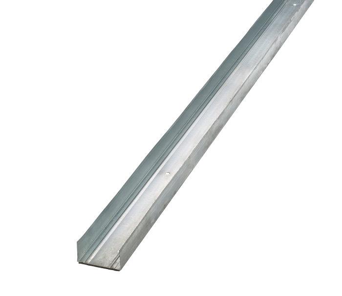 Gulv- og loftskinne med foam, U-profil 70 mm