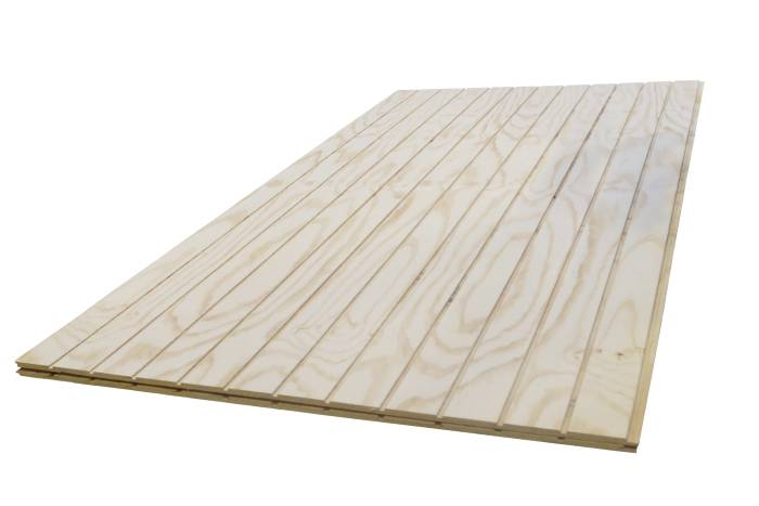 Spårad plywood 1220 x 2440 mm