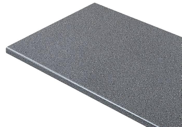 Laminatbordplade mørk granit 28 mm x 61 x 300 cm