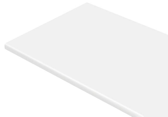 Laminatbordplade hvid - 28 mm x 61 x 300 cm