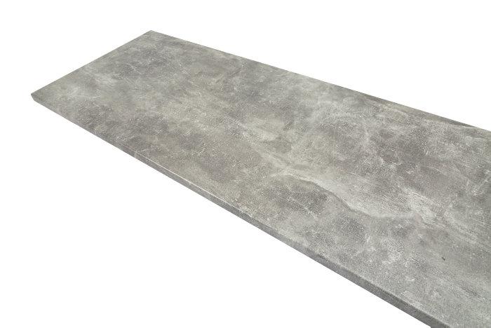 Laminatbenkeplate betong 28 x 610 x 3000 mm