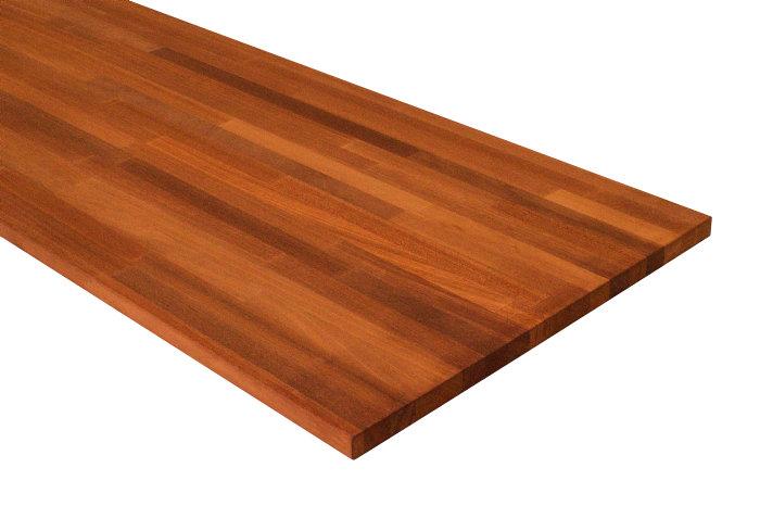 Massiv bordplade nyatoh - 26 mm x 61 x 242 cm
