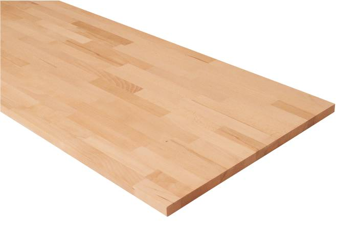 Massiv bordplade i bøg - 26 mm x 61 x 242 cm
