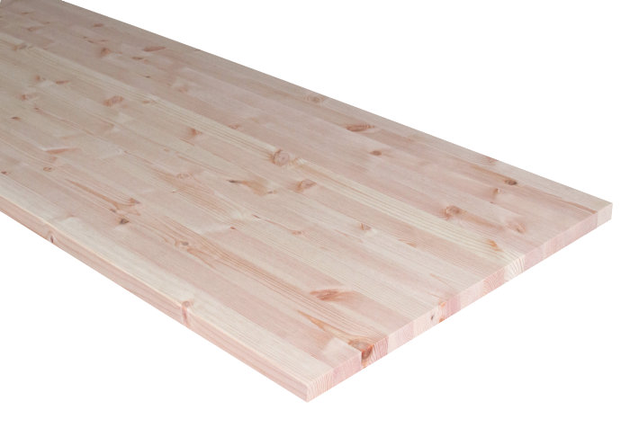 Massiv bordplade i fyr - 25 mm x 62 x 242 cm