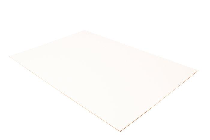 MDF plade 3 mm hvid - 80 x 120 cm