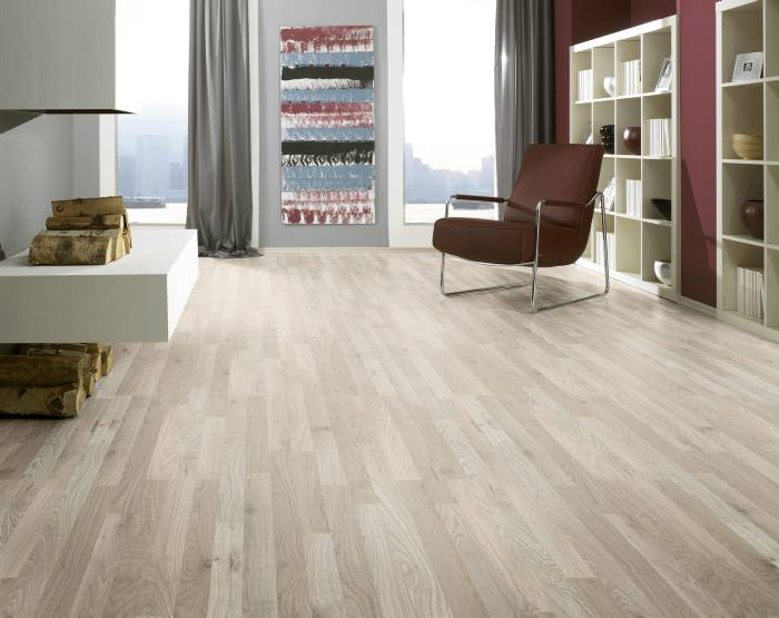 Laminatgulv planet collection - hvid eg