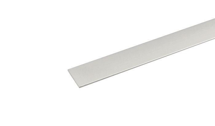 Listeprofil flad alu - 2 x 25 mm x 2 m