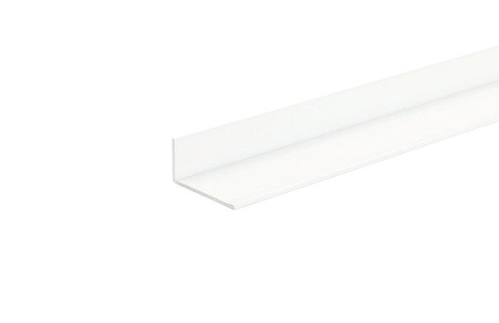 Listeprofil hvid - 15 x 15 mm x 1 m