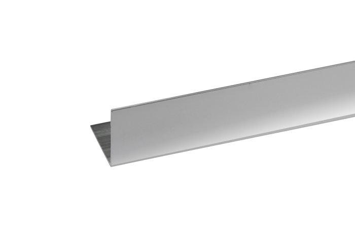 Listeprofil sølv - 25 x 25 mm x 1 m