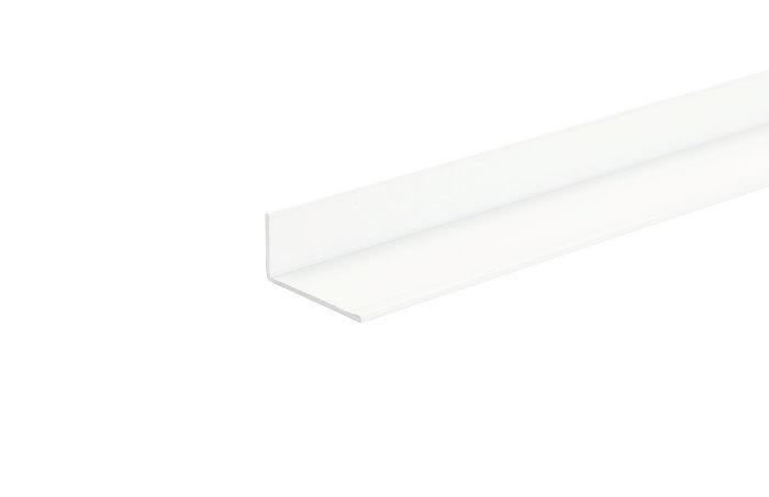 Listeprofil hvid - 25 x 25 mm x 1 m