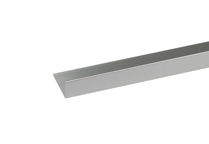 Listeprofil sølv - 10 x 15 mm x 1 m