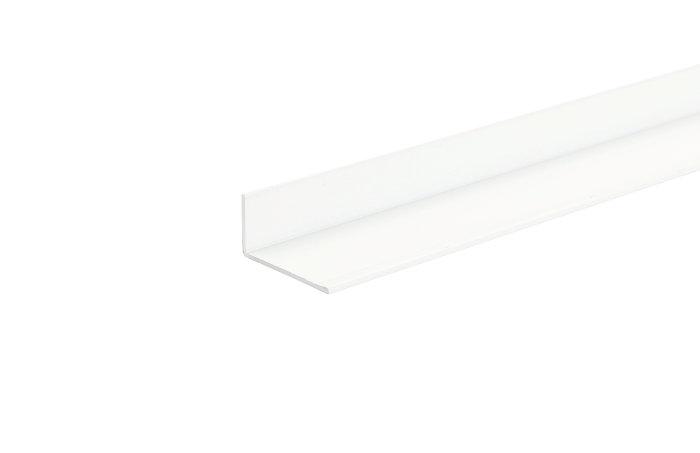 Listeprofil hvid - 15 x 30 mm x 1 m