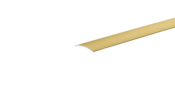 Gulvprofil mat guld - 3,2 x 30 mm x 0,9 m