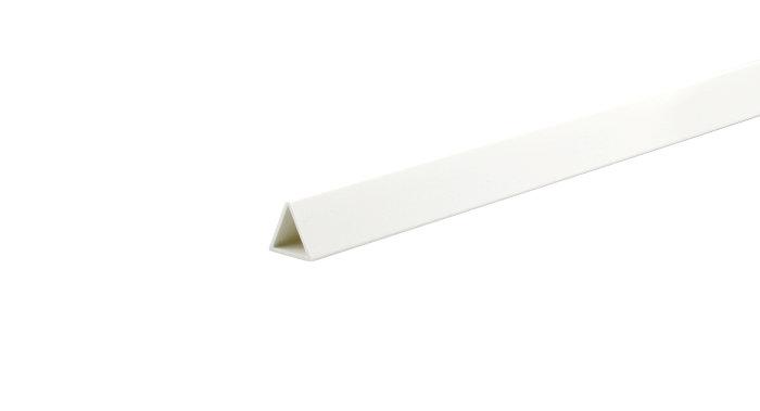 Profilliste ombuk trekantet hvid pvc - 1 m