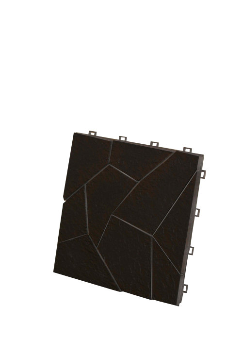 Golvplatta Fligo svart 30x30 cm