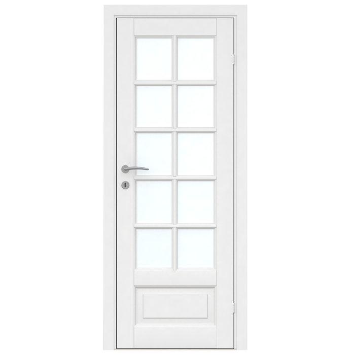 Fransk dør hvit 10 vindusfelter 82,6 x 204 cm