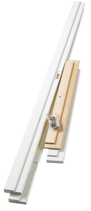 Karmsæt hvid 100 mm, 82,6 cm