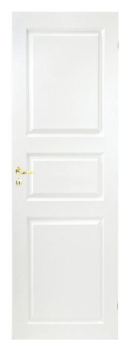 Optimal hvidmalet formpresset dør - 72,6 cm
