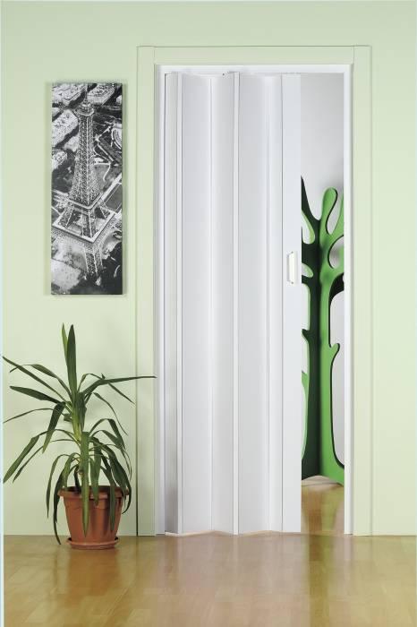 Foldedør i hvid PVC