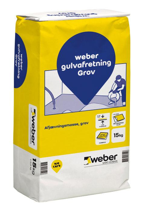 Weber gulvafretning grov - 15 kg