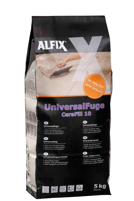 Alfix CeraFill 10 universalfuge - antracit