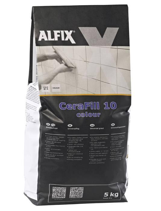 Alfix CeraFill 10 universalfuge - sortgrå