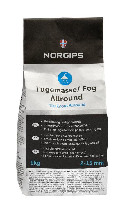 Fogmassa Silvergrå 1 kg
