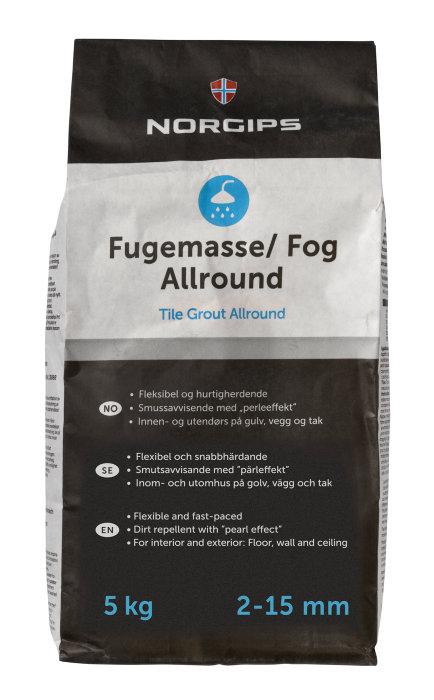 Fogmassa Silvergrå 5 kg
