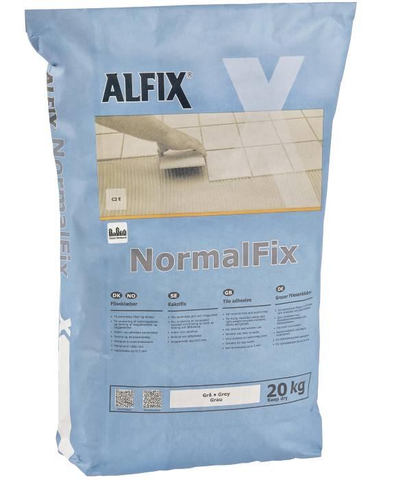 Alfix NormalFix fliseklæber - grå - 20 kg