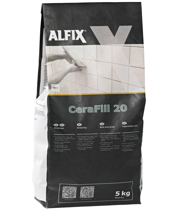 Alfix CeraFill 20 klinkefuge - lysegrå