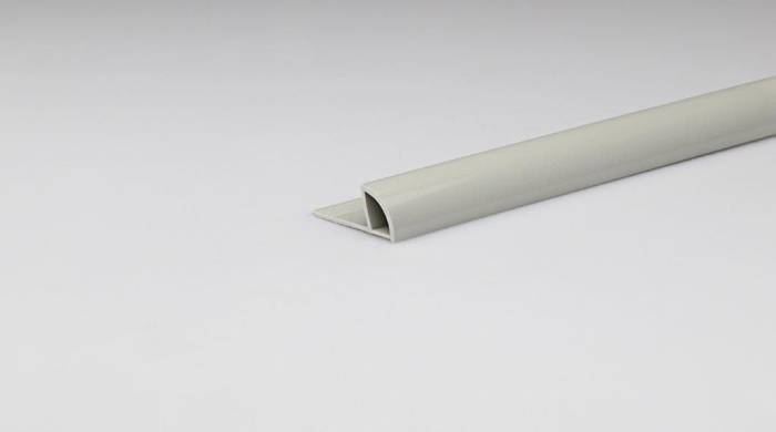 Avslutningsprofil grå 8mm