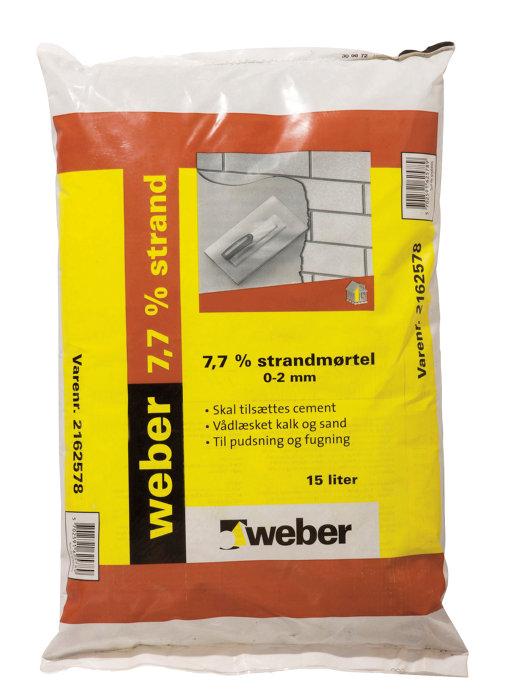 Weber strandmørtel 7,7% - 15 liter
