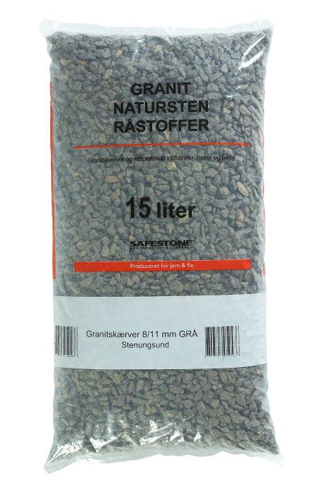 Safestone granitskærver 8/11 mm gråmix - Grå Stenungsund