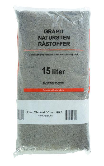 Safestone granitstenmel 25 kg - grå