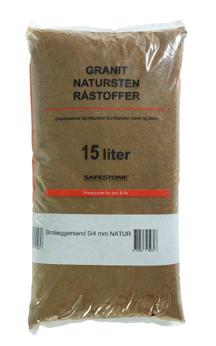 Safestone brolæggersand 25 kg - 0/4 mm