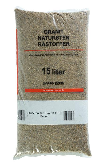 Safestone støbemix 15 liter - 0/8 mm